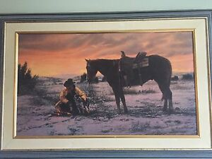 Tim Cox framed Horse canvas print