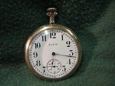 1917 Elgin Pocket Watch 16s 7j Grade 293 W/ Gold Filled Illinois Watch Case