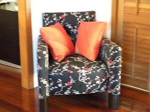 Unique cherry blossom print cloth armchair Wanneroo Wanneroo Area Preview