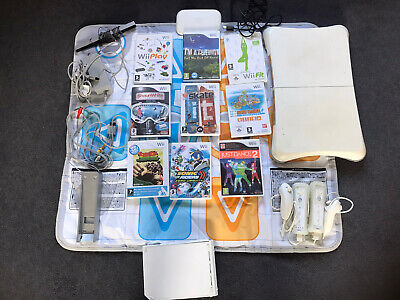 nintendo wii Console bundle and Wii Fit Plus Accessories