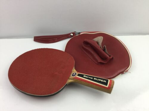 Vintage Dunlop Barna Super Ping Pong Paddle w/Case