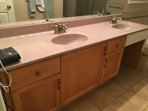 "Bathroom Countertop 84"" Double Sink For Sale"