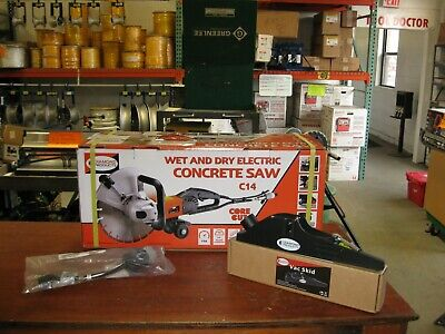 Diamond Products C-14 Electric Hand Held Wet Dry Concrete Saw 14 New
