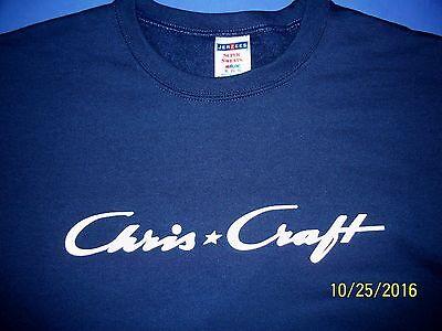 Chris Craft Boat Screen Printed Crew Neck Sweatshirt 9.3 oz. Heavy Weight
