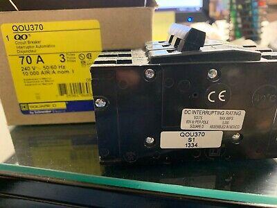 Square D Circuit Breaker Qou370 70a 240v 3p 10k New In Open Box