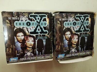 TOPPS (2) Box of  X-Files Series 1 Trading Card Pack 36 Packs UK Edition 72pack