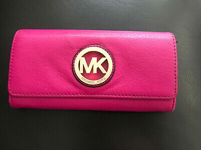 Michael Kors Leather Wallet Hot Pink