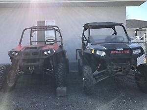 2 POLARIS RZR 800 S ROLLING CHASSIS 08/09 PAIR 7600.00