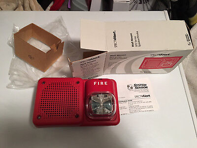 New System Sensor Sp2 Speakerstrobe Wall Mount Sp2r241575 Fire Alarm