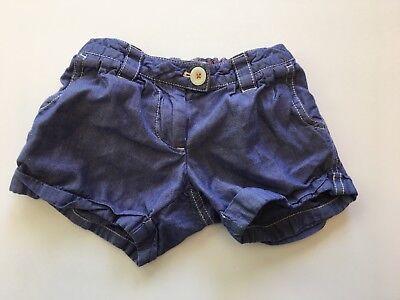 Mini Boden Size 2Y Denim Chambray Bubble Shorts Adjustable Waist (Denim Bubble)