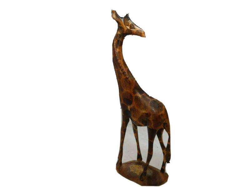Hand-carved Wooden Giraffe