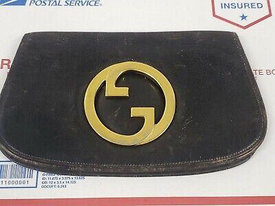 Gucci Blondie Vintage Handbag Black and Gold Clutch - Unicorn Bag - AS-IS