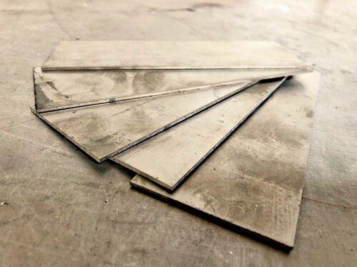 "5 Pieces - Titanium Plate 6AL4V 2"" x 6"" X .063"""