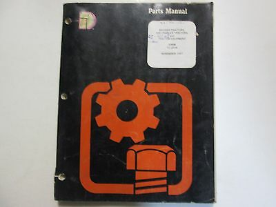 1967 Dresser Skidder 500 Crawler Tractors Tractor Equipment Parts Manual Oem