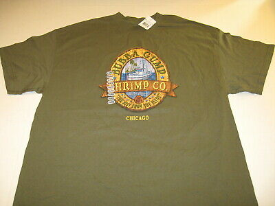 Bubba Gump Shrimp Co. Best From The Bayou Chicago Restaurant T-Shirt New! NWT