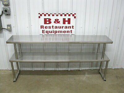 62.5 Stainless Steel Steam Work Table Double Over Shelf Plate Rack 5