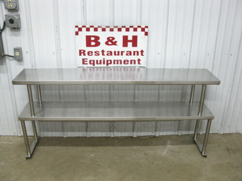 """62.5"""" Stainless Steel Steam Work Table Double Over Shelf Plate Rack 5"""