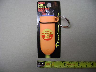 Mini Bic Lighter Plastic Case LED Flashlight Keychain you pick color (NEW)