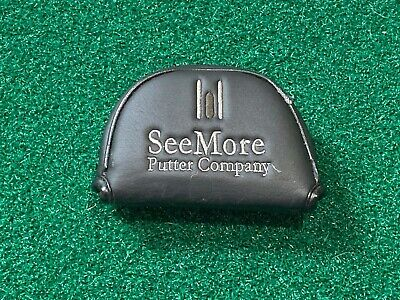 SEEMORE PUTTER COMPANY MALLET PUTTER HEADCOVER - Black Right Handed Head Cover
