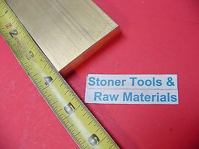 12 X 2 C360 Brass Flat Bar 4 Long Solid Plate Mill Stock H02 .50x 2.00x 4