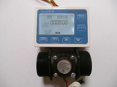 1.5 Flow Water Sensor Meterdigital Lcd Display Control 5-150lmin