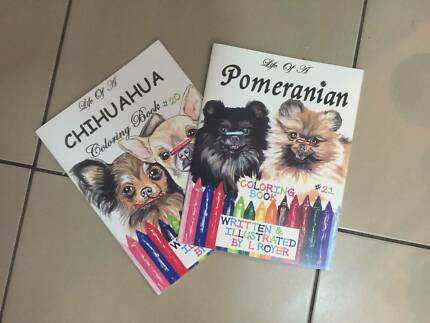 New Life Of A Chihuahua & Pomeranian Coloring In Books x 2
