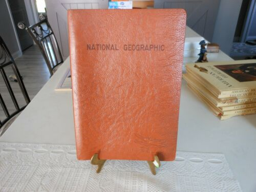 Vtg TWA Magazine Binder (Torsion) to Hold National Geographic Magazines Inflight