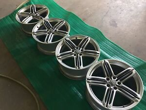 Factory forged 19 inch Audi wheels.