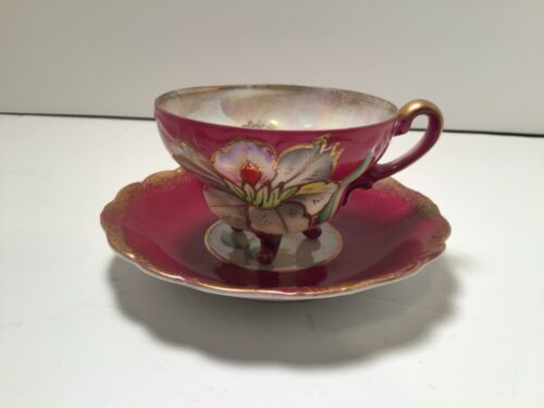 ANTIQUE ROYAL SEALY CHINA JAPAN TEACUP AND SAUCER
