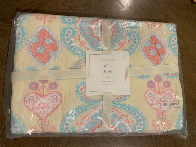 Pottery Barn Kids Claudia Yellow Toddler Quilt