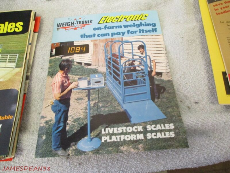 WEIGH TRONIX ELECTRONIC LIVESTOCK PLATFORM SCALES SALES BROCHURE PAMPHLET