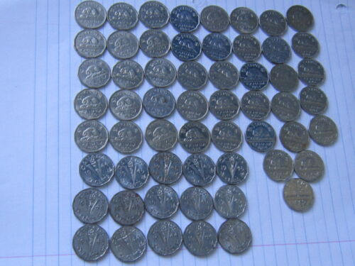 Lot of 58 Canada world coins #74