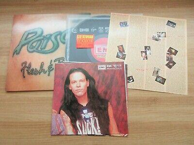 Poison - Flesh And Blood Korea Vinyl LP 1990 Insert No Barcode POSTER