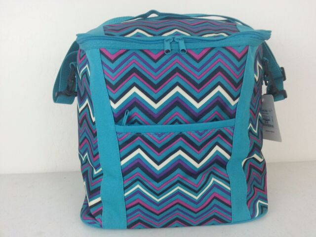 nwt simple function 25l insulated cooler bag multicolor zigzag picnic lunch - Insulated Cooler Bags