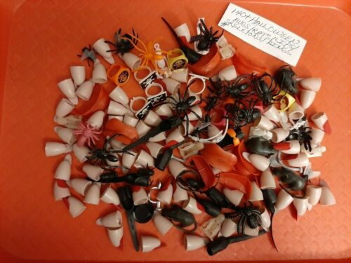 VINTAGE GUMBALL/VENDING HALLOWEEN MIX RINGS/PINS/TOYS LOT OF OVER 140  REDUCED