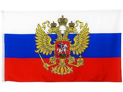 Fahne Russland mit Adler 90 x 150 cm russische Flagge mit Adler WM 2018 Russia