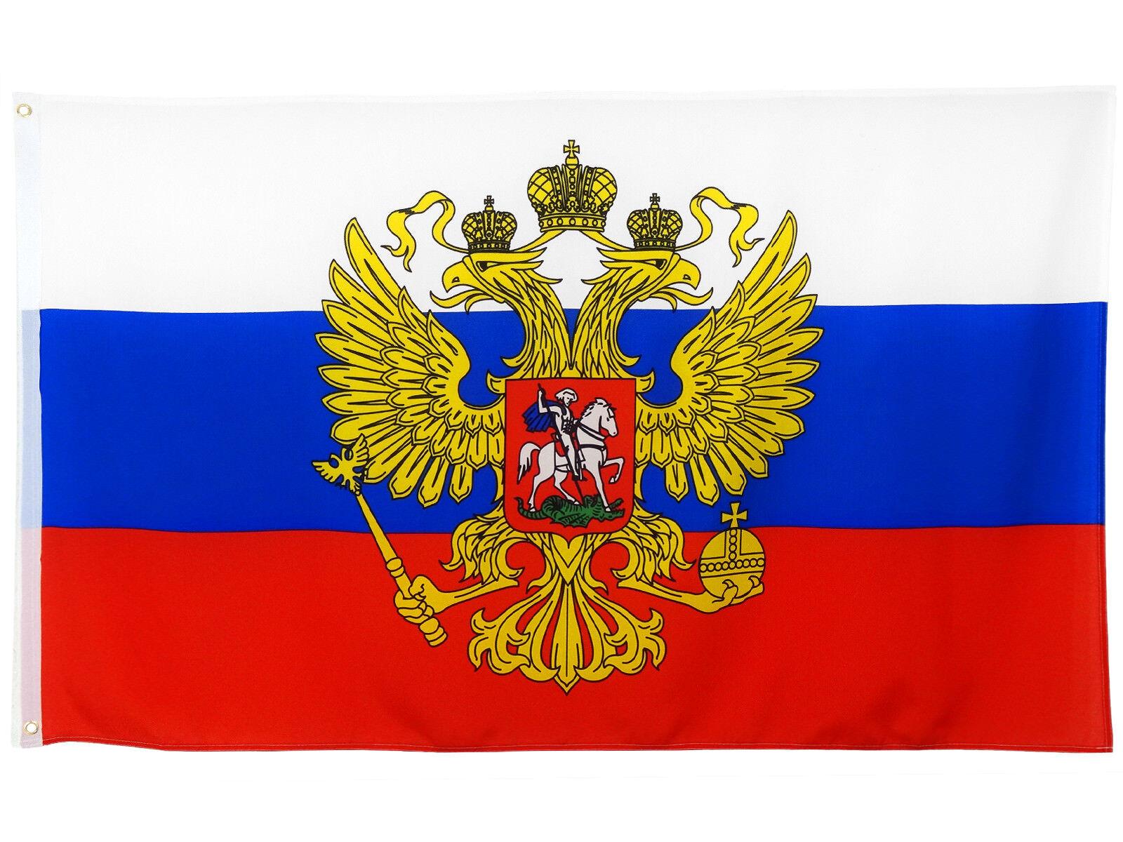Fahne Russland mit Adler 90 x 150 cm russische Flagge mit Adler Russia