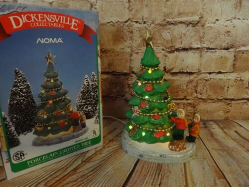Dickensville Collectibles Noma Porcelain Lighted Christmas Tree 1991