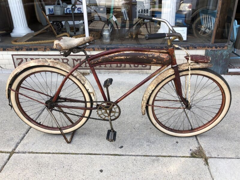 Vintage D.P. Harris Gold Medal Pre War Mens Straight Bar Bicycle