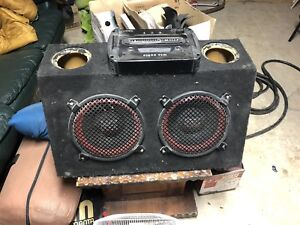 """10"""" MTX Subwoofers in box with Amp"""