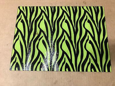 Zebra Lime Window (Rikki Knight Lime Zebra Design Glass Cutting Board Large 15.3 x 2 x 11.3 inches )