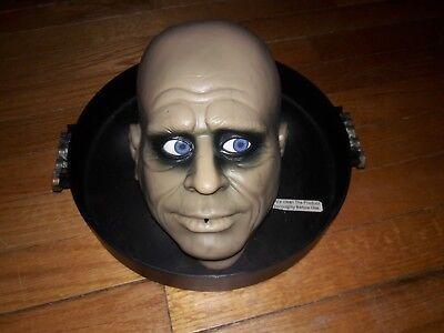 rare vintage Gemmy Halloween butler uncle fester Head Candy Dish - Halloween Butler