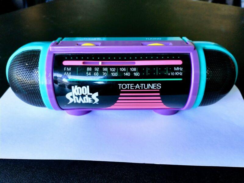 KOOL SHADES TOTE-A-TUNES AM/FM RADIO MINI BOOMBOX