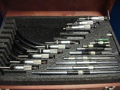 Starrett 436 Series Set 1-12 Outside Micrometer Caliper Standards