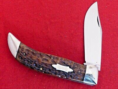 Case Tested XX 1920-40 era near mint 6172 Bulldog green bone clasp knife