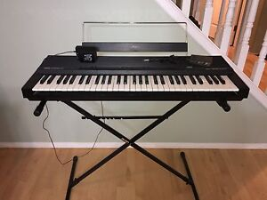 Portable piano keyboard with pedal and touch sensitive keys