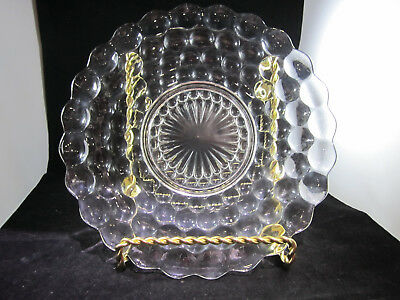 Anchor Hocking Bubble Glass plate 10""