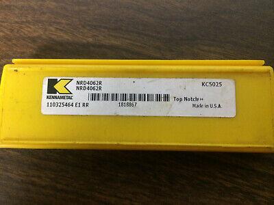 5 Pcs Kennametal Nrd4062r  Kc5025 Carbide Deep Grooving Inserts