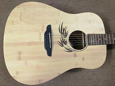New Luna Woodland Bamboo Dreadnought Acoustic Guitar, Mahogany/Pau Ferro Neck