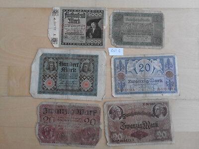 6 Geldscheine (Lot 6)
